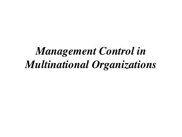 Management control system in mnc