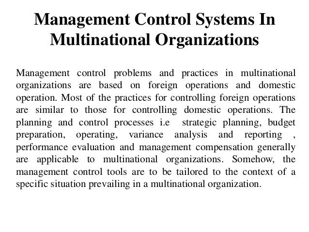 Internal Control System and Risk Management