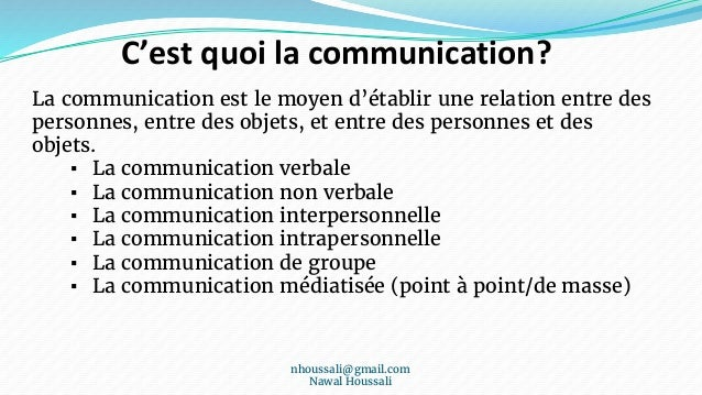 Management Des Communications Du Projet