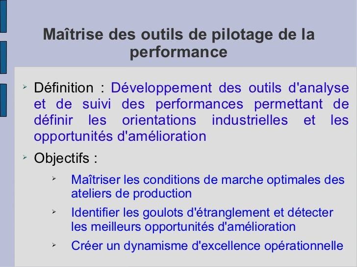 management des performances