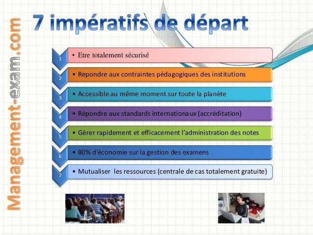 Management exam, un dispositif d'évaluation en ligne Slide 3