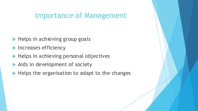 importance of management function in an organisation