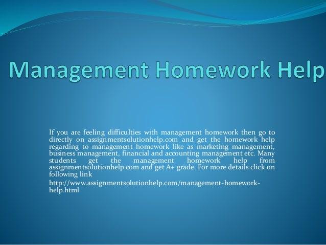 Management coursework help