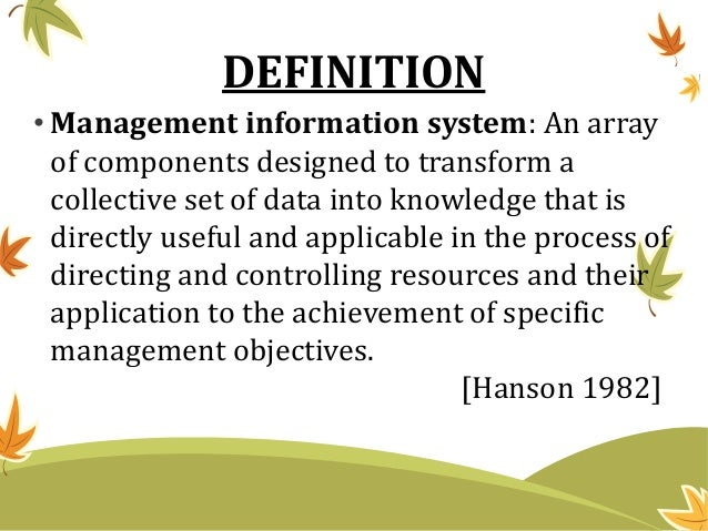 Management Information And Evaluation System