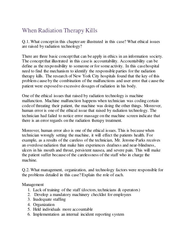 radiation therapy application essay School of radiation therapy application packet for evaluation & verification of observati on in radiation oncology essay instructions 6.