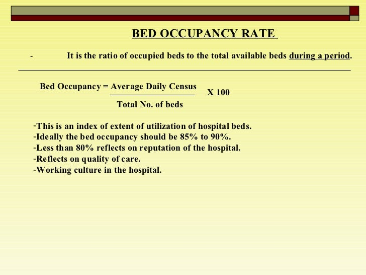 Hospital Bed Calculation