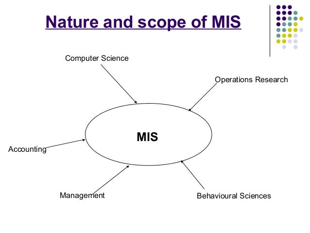 nature and scope of mis Define system scope and boundaries define system scope since system size is a measure of the magnitude of all components of a system that are within the current scope, the system scope should be documented in the project plan before the system size is estimated.