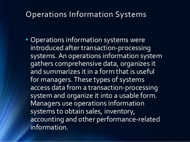 managing projects operations and information systems Operations management (om) and information systems (is) are closely related fields of study, both vital to business across the public and private sectors.