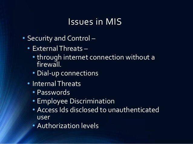 mis securing information systems Introduction [] information security means protecting information (data) and information systems from unauthorized access, use, disclosure, disruption, modification, or destruction.