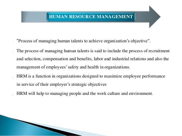 Goals of Human Resource Management