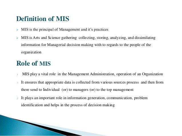 MANAGEMENT INFORMATION SYSTEM AND PAYROLL MANAGEMENT
