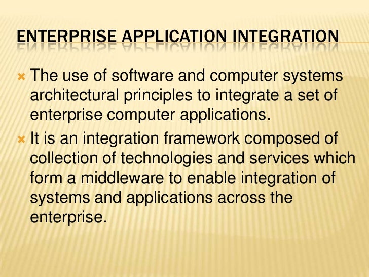 cross functional integrated enterprise systems