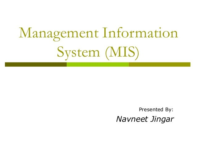 Information system thesis proposal