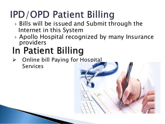 Online patient information and billing system