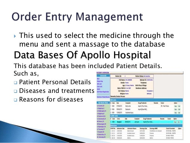 Management Information System Of Apollo Hospital 1