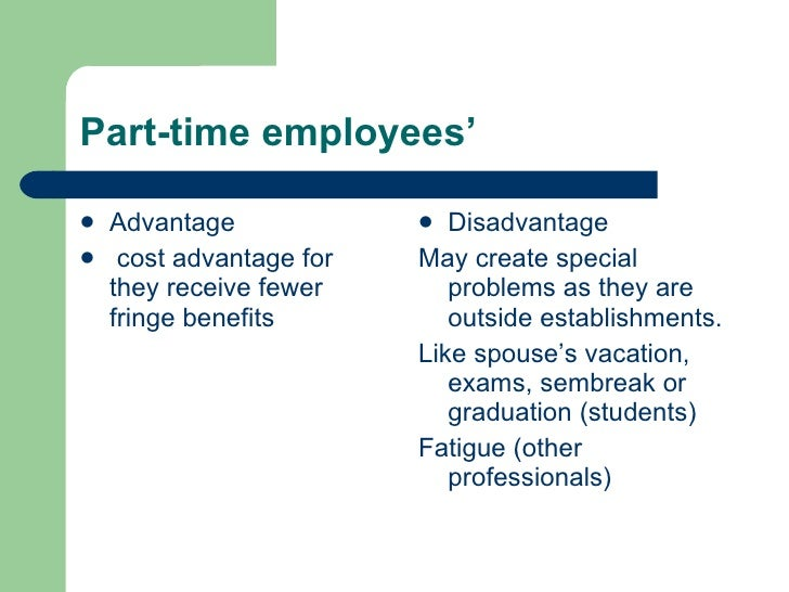 Jun 29,  · In general, benefits for both full-time and part-time employees have shrunk steadily since the s. Often, part-time workers receive few or no benefits. This, combined with an increase in the percentage of workers who are employed part-time, means that, increasingly, workers need to provide for their own retirement.