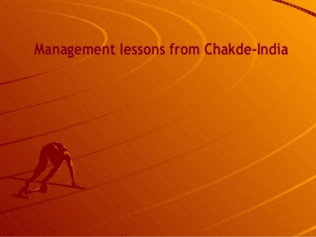 INTRODUCTION •Chak de India is the story of a coach's fight for making his local team, Indian women hockey team by overcom...
