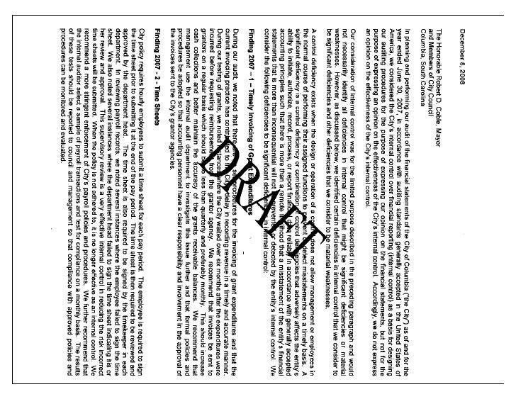 2008 Management Letter