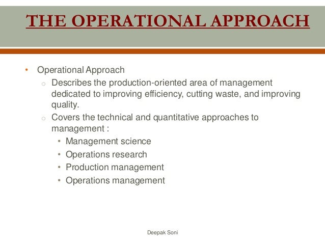 operational approach to management
