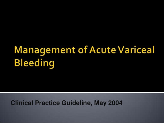 Clinical Practice Guideline, May 2004