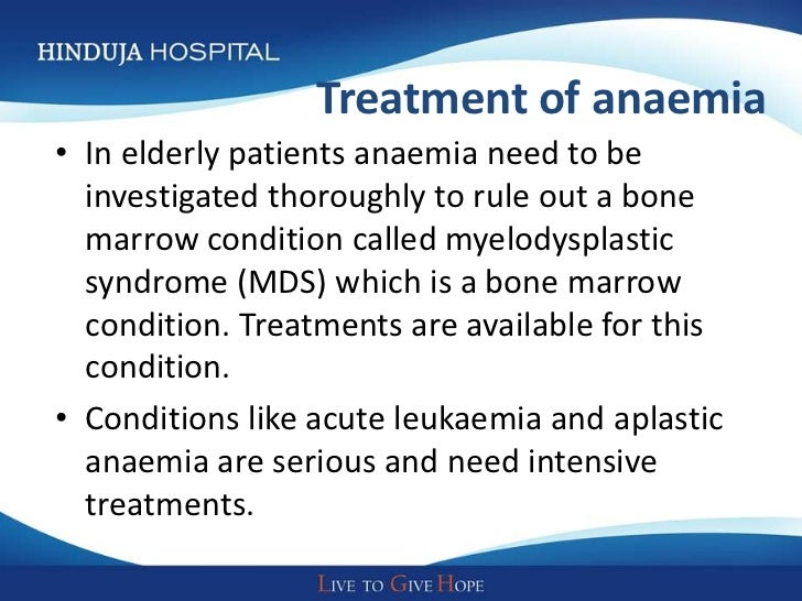 How do you manage myelodysplastic syndrome in elderly?