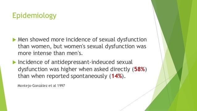 Sexual dysfunction in men antidepressants