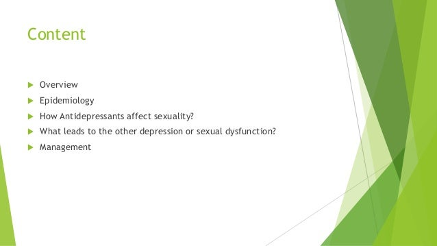 Post-ssri sexual dysfunction prevalence vs incidence