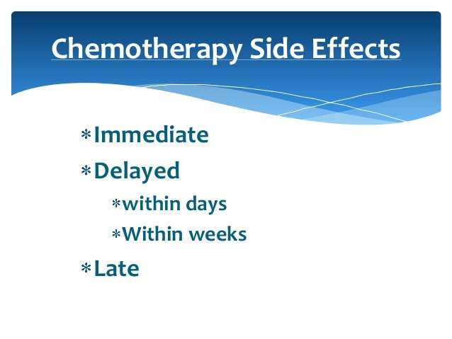 Management Of Chemotherapy Complications