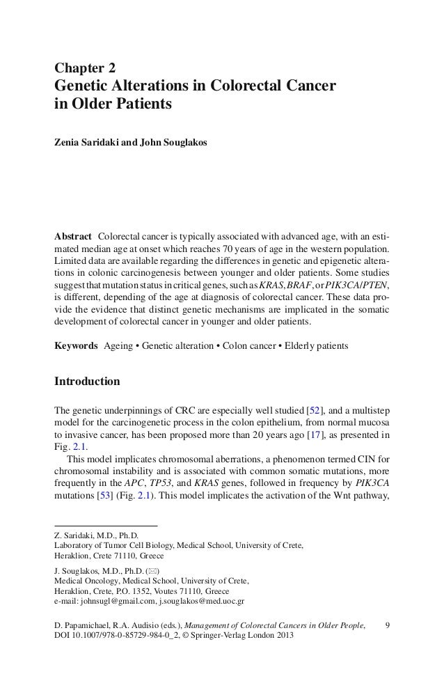 9D. Papamichael, R.A. Audisio (eds.), Management of Colorectal Cancers in Older People,DOI 10.1007/978-0-85729-984-0_2, © ...