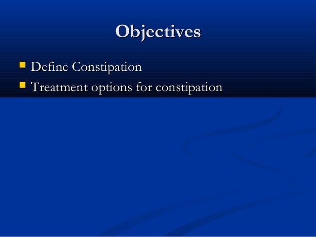 Management Of Constipation In Adults 2 0