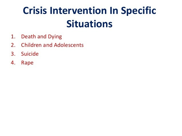 abc crises intervention Conclusion the abc model of crisis intervention has been implemented as from hn 220 at kaplan university.
