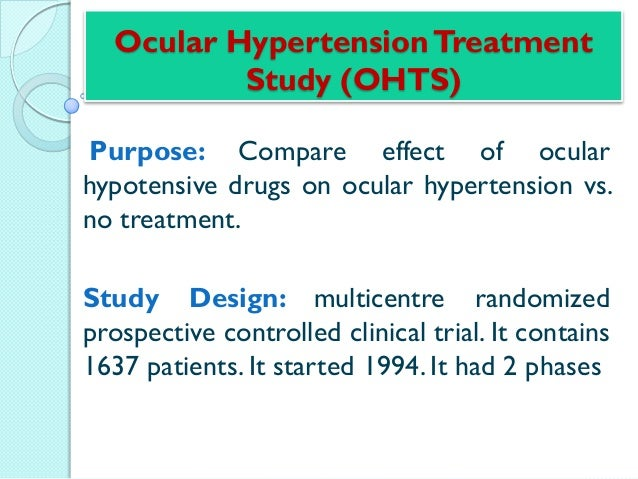 The effectiveness of intraocular pressure reduction in the ...
