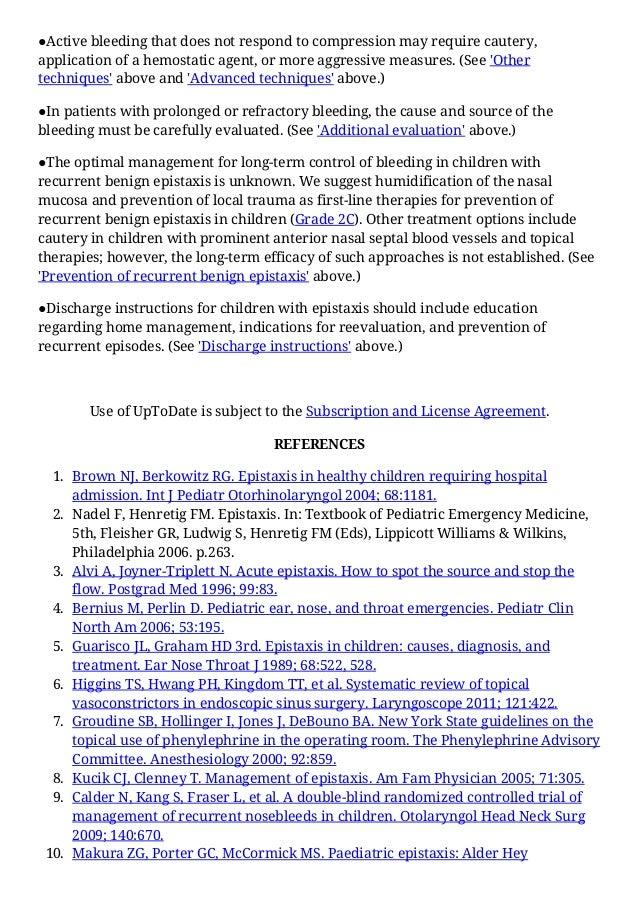 Management of epistaxis in children