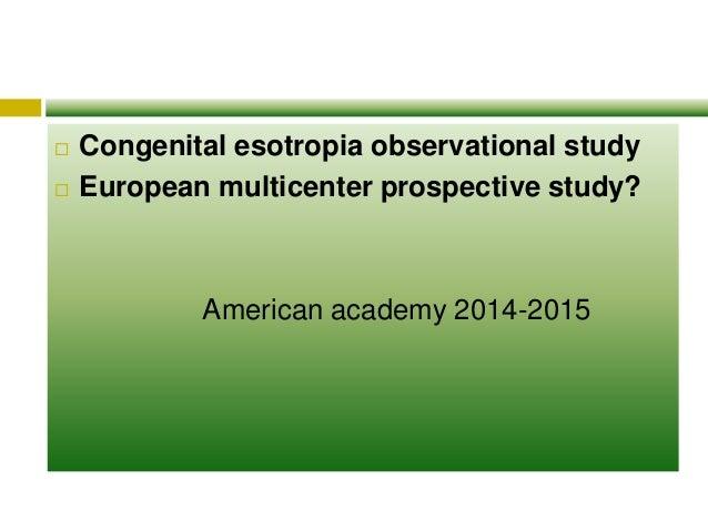 Accommodative esotropia case study