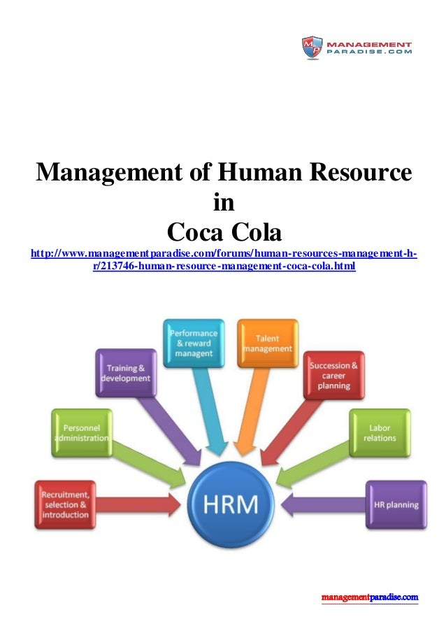 the human resource issues faced by coca cola The guidelines address environmental and social conduct, but also include other  subjects, eg  clear csr report and has not faced any major scandals such as  coca-cola, walmart and apple  business and human rights challenges.