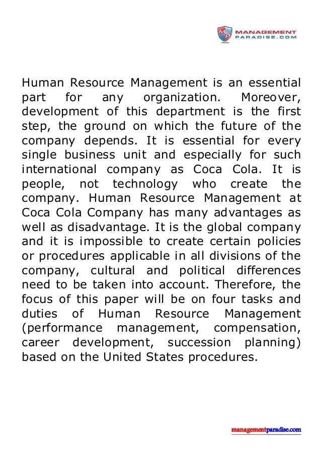 human resource managers of coca cola company The coca-cola company employees with the job title vice president (vp), sales & marketing make the most with an average annual salary of $180,113, while employees with the title forklift operator .
