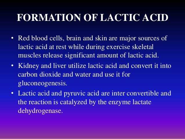 lactic acidosis Go to acute lactic acidosis for complete information on this topic hyperlactatemia versus lactic acidosis the normal blood lactate concentration in unstressed patients is 05-1 mmol/l.