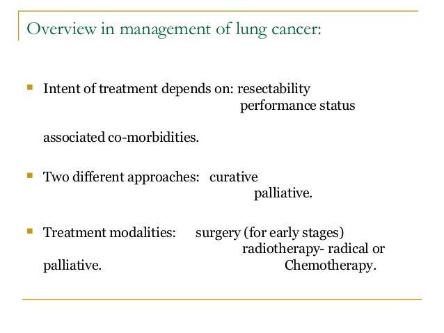 Management of lung cancer Slide 2