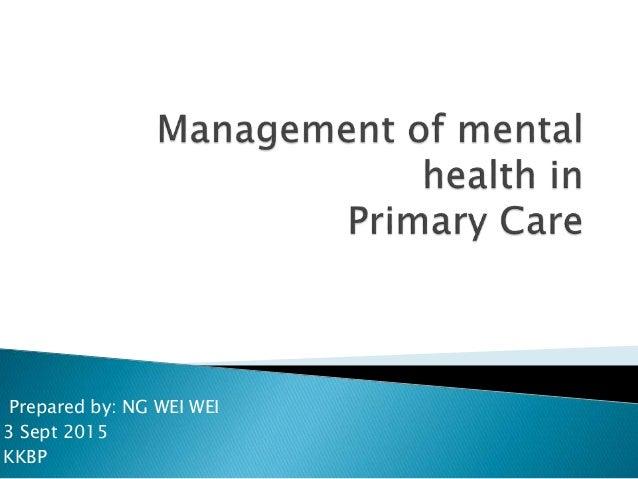 Behavioral Health in Primary Care