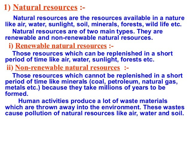 Essay on importance of conservation of natural resources