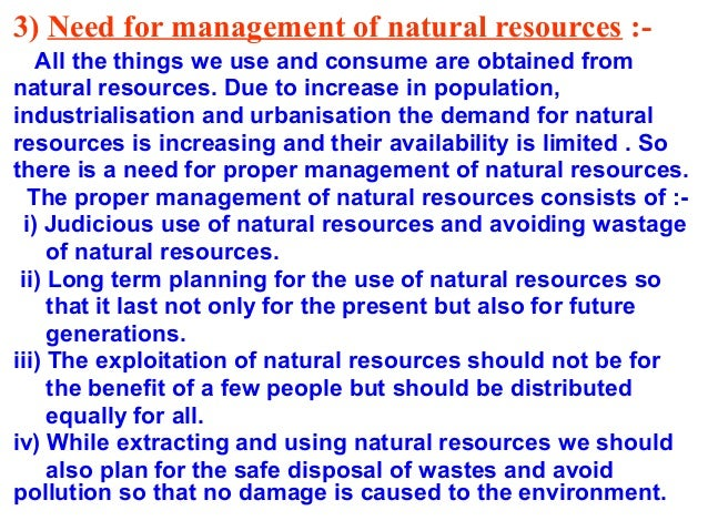 essay on natural resources and their conservation
