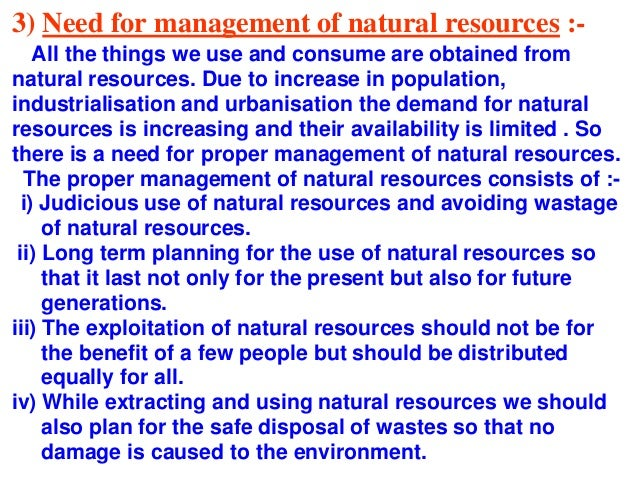 Management of natural resources ppt