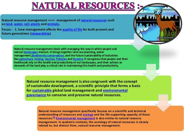 Concept Of Natural Resource Management