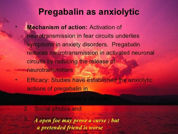 Pregabalin anxiety