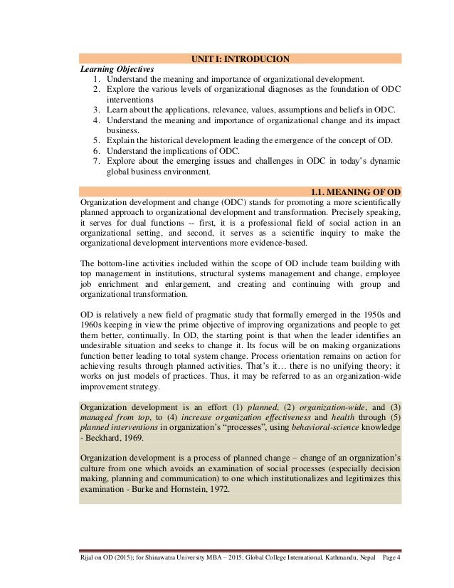 Odc interventions