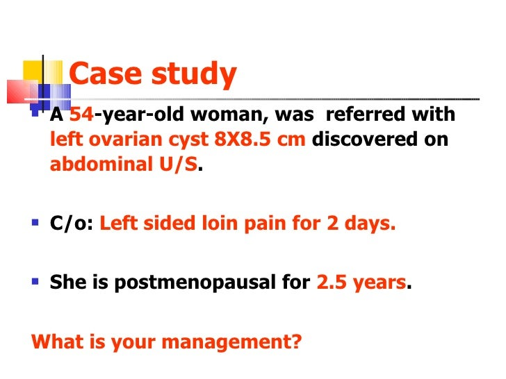 Management Of Ovarian Cysts In Postmenopausal Women