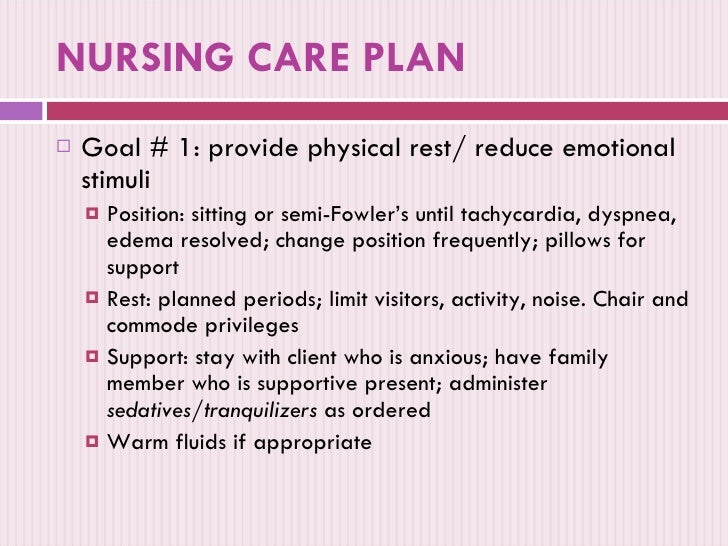 Anxiety: Nursing Care Plan For Anxiety