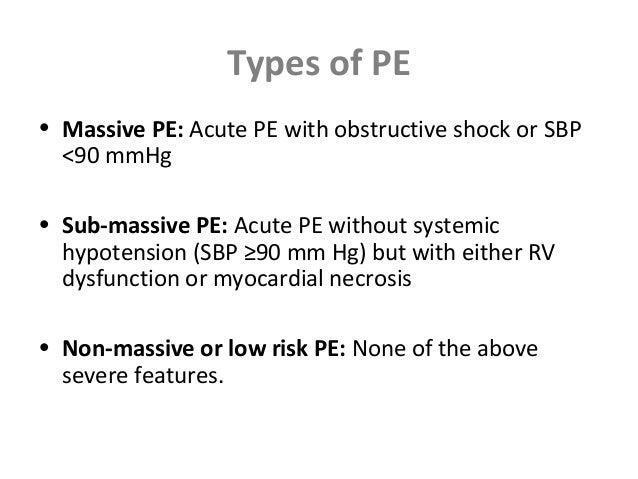 4 Types Of PE O Massive