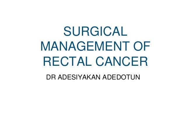 Rectal Cancer Adesiyakan