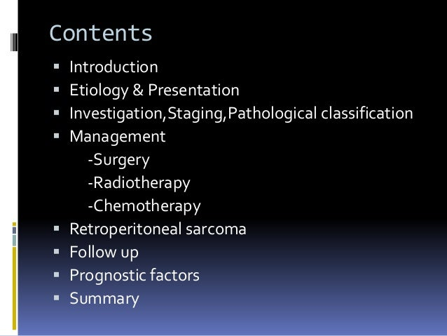 Soft tissue sarcoma-What is the role of Radiation Slide 2